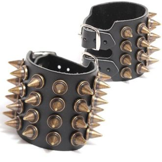 bracciale BORCHIA 4, BLACK & METAL