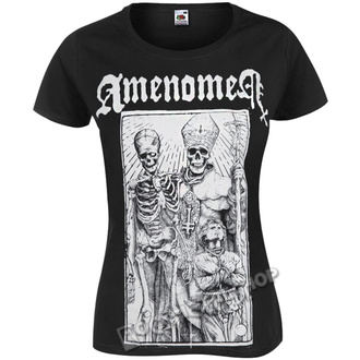 t-shirt hardcore donna - POPE AND DEATH - AMENOMEN, AMENOMEN