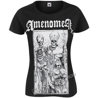 t-shirt hardcore donna - POPE AND DEATH - AMENOMEN, AMENOMEN