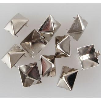 piramidi metallo - 10ks, BLACK & METAL