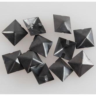 piramidi metallo BLACK - 10ks, BLACK & METAL