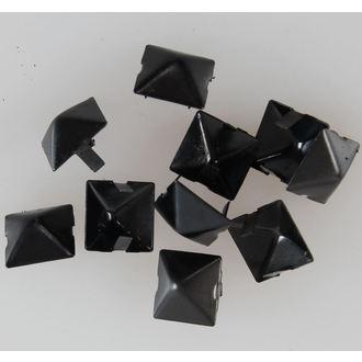piramidi metallo BLACK - 10ks - CW-076