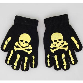guanti Skull - Nero/Giallo