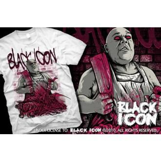 t-shirt hardcore uomo - White - BLACK ICON, BLACK ICON