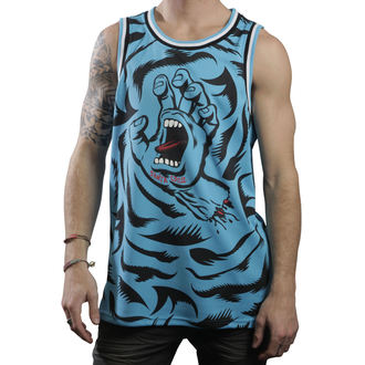 t-shirt uomo (maglia) SANTA CRUZ - Screaming Camo - Blu, SANTA CRUZ