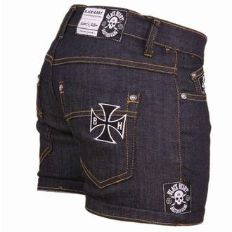 pantaloncini donna BLACK HEART - Blu Denim, BLACK HEART