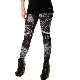 pantaloni donna (leggings) POIZEN INDUSTRIES - Death God, ALCHEMY BLACK