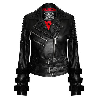giacca di pelle donna - Buckled Leather - KILLSTAR, KILLSTAR