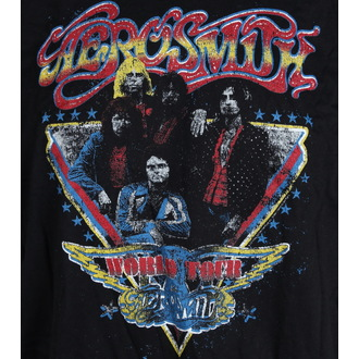 t-shirt metal uomo Aerosmith - Distressed World Tour - LIVE NATION, LIVE NATION, Aerosmith