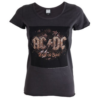 t-shirt metal donna AC-DC - Rock Or Bust Tour - AMPLIFIED
