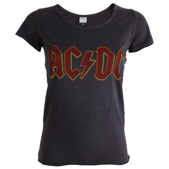 t-shirt metal donna AC-DC - Charcoal - AMPLIFIED, AMPLIFIED, AC-DC