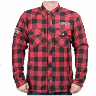 Camicia da moto (motoshirt) BLACK HEART - REGINALD T W-TEC - ROSSO, BLACK HEART