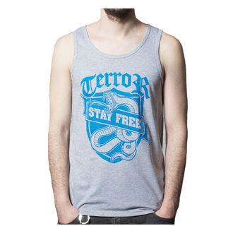 t-shirt uomo Terror - Rimanere Free - BUCKANEER - Grigio, Buckaneer, Terror