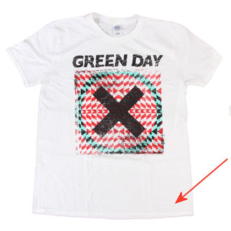 t-shirt uomo Green Day - Xllusion - White - BRAVADO EU - DANNEGGIATO, BRAVADO EU, Green Day