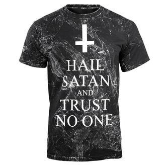 t-shirt hardcore uomo - HAIL SATAN AND TRUST NO ONE - AMENOMEN, AMENOMEN