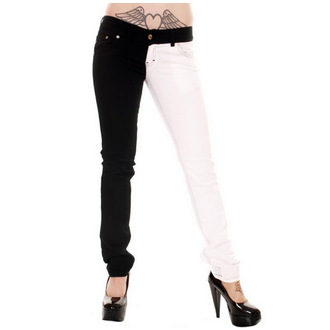 pantaloni donna 3RDAND56th - Split Leg - Nero/Bianco, 3RDAND56th