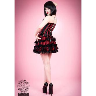 corsetto donna HEARTS E ROSES - Nero Red Bone, HEARTS AND ROSES