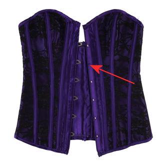 corsetto da donna HEARTS AND ROSES - Black Purple - DANNEGGIATO, HEARTS AND ROSES