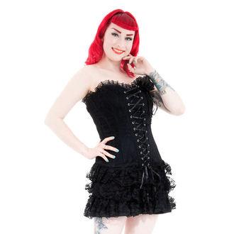 vestito donna HEARTS E ROSES - Nero Moulin Rossetto, HEARTS AND ROSES