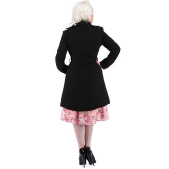 cappotto donna primaverile-autunnale HEARTS E ROSES - Nero Nero Floccaggio, HEARTS AND ROSES