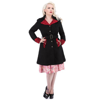 cappotto donna primaverile-autunnale HEARTS E ROSES - Nero Red Floccaggio, HEARTS AND ROSES