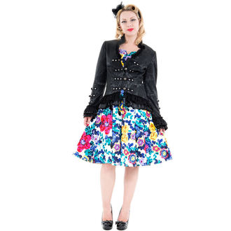 giacca donna primaverile / autunnale HEARTS E ROSES - Nero Vittoriano Brocade, HEARTS AND ROSES