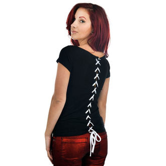 T-shirt gotica e punk donna - Skull Tarot - TOO FAST, TOO FAST