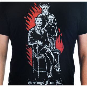 T-shirt gotica e punk uomo - Greetings From Hell - TOO FAST, TOO FAST