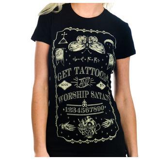 T-shirt gotica e punk donna - Get Tattooed & Worship Sa - TOO FAST, TOO FAST