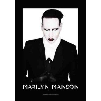 bandiera Marilyn Manson - Corretto, HEART ROCK, Marilyn Manson