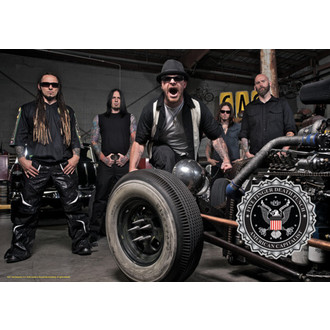bandiera Five Finger Death Punch - Band Photo, HEART ROCK, Five Finger Death Punch