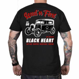 Maglietta da uomo BLACK HEART - HOT ROD A - NERO, BLACK HEART