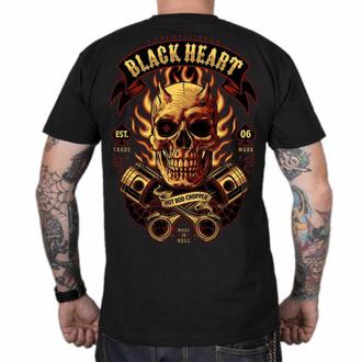 Maglietta da uomo BLACK HEART - HELL BOY - NERO, BLACK HEART
