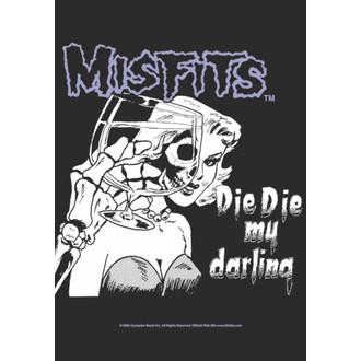 bandiera Misfits - Die Die My Caro, HEART ROCK, Misfits