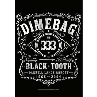 bandiera Dimebag Darrel - Etichetta, HEART ROCK, Dimebag Darrell