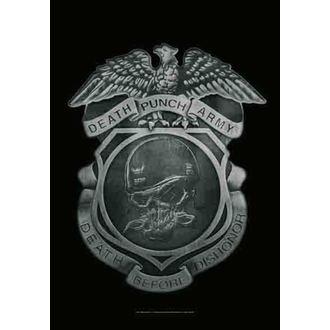 bandiera Five Finger Death Punch - Enforcer, HEART ROCK, Five Finger Death Punch