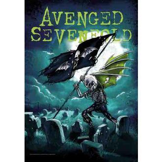 bandiera Avenged Sevenfold - Cemetary, HEART ROCK, Avenged Sevenfold