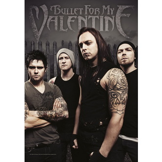 bandiera Bullet For My Valentine - Band Photo, HEART ROCK, Bullet For my Valentine