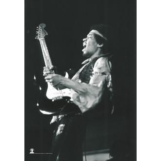 bandiera Jimi Hendrix - B. & W.Guitar, HEART ROCK, Jimi Hendrix