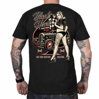 Maglietta da uomo BLACK HEART - DENIS - NERO, BLACK HEART