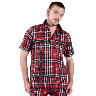 camicia uomo DEAD THREADS - Rosso/Nero/Bianco, DEAD THREADS
