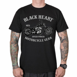 Maglietta da uomo BLACK HEART - CHOPPER - NERO, BLACK HEART