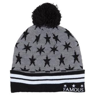 beanie FAMOUS STARS & STRAPS - Lunar Pom - Grigio, FAMOUS STARS & STRAPS