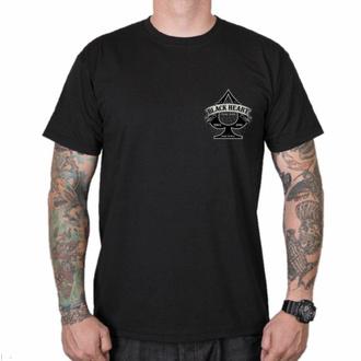 Maglietta da uomo BLACK HEART -ORANGE CHOPPER - NERO, BLACK HEART