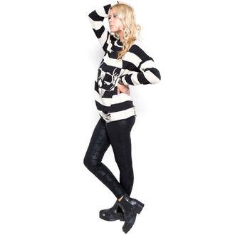 cardigan donna IRON FIST - Urban Decay Stripe - BLK / Offwht, IRON FIST