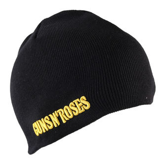 beanie Guns n Roses - Bullet Logo Cotton - Nero, ROCK OFF, Guns N' Roses