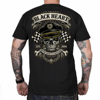 Maglietta da uomo BLACK HEART - OLD SCHOOL RACER - NERO, BLACK HEART