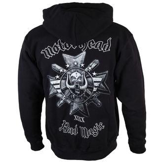 felpa con capuccio uomo Motörhead - Bad Magic - ROCK OFF, ROCK OFF, Motörhead