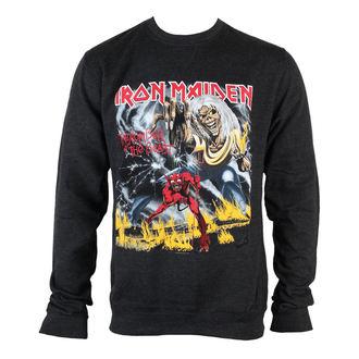 felpa senza cappuccio uomo Iron Maiden - NOTB Puff Print - ROCK OFF, ROCK OFF, Iron Maiden