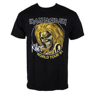 t-shirt metal uomo Iron Maiden - Killers World Tour 81 - ROCK OFF, ROCK OFF, Iron Maiden